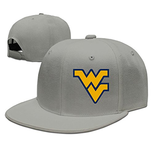 West Virginia Flying Wv Logo Adjustable Hat Flat Along Baseball Cap Sport Cap