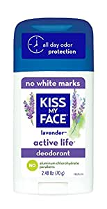 Kiss My Face Active Life Deodorant, Lavender, 2.48 oz Stick (Pack of 6)