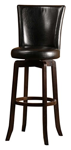 Bar Stool Black Hillsdale Furniture (Hillsdale 4951-826 Copenhagen Swivel Counter Stool, Black Leather)