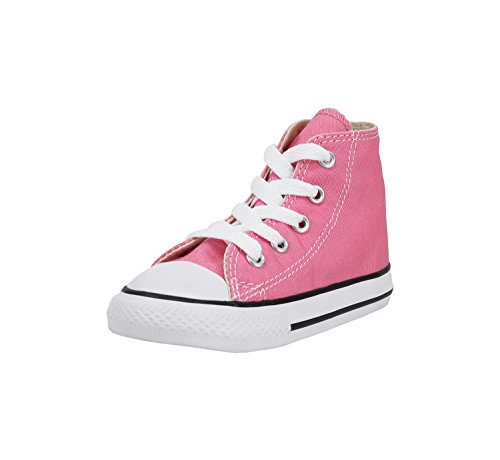 (Converse Kids' Chuck Taylor All Star Canvas High Top Sneaker Pink 8 M US)