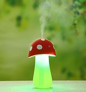 Mini USB Humidificador de Aire / Purificador de Aire / Difusor de Aroma / Atomizador con Diseño novedoso de Seta Regalo creativo para Oficina / Hogar / Casa Regalo empresarial Personalizado Rojo
