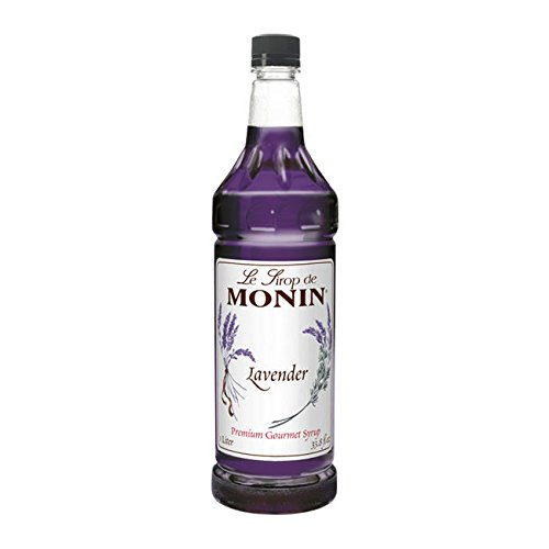 Flavored Simple Syrup - Monin Lavender Syrup - Great For Flavoring Shakes, Cocktails, Soda, And Lemonade - 1 Liter Bottle