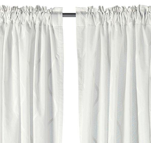 Ikea Curtain Hillmari White 57 X 98