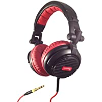 Soniq USA SH900 Thrust DJ Full Size Over-Ear Headphones Black/Red