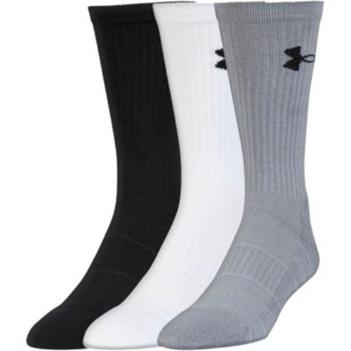 Under Armour UA Performance Crew - 3-Pack MD Steel by Under Armour
