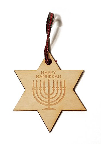 Menorah Hat (Happy Hanukkah Menorah Laser Engraved Wooden Christmas Tree Ornament Gift Seasonal Decoration)