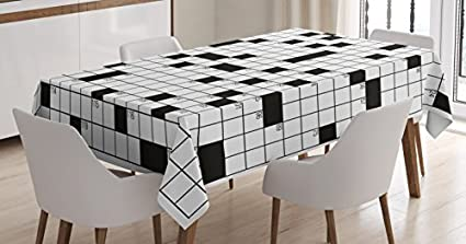 Amazon Com Word Search Puzzle Tablecloth By Ambesonne Classical