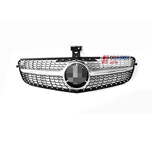 BODIN Diamond Grille for Mercedes Benz C-Class w204 C200 C250 C300 08-14 (Silver)