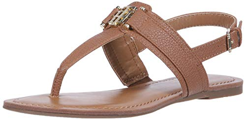 Sandal Medium Hilfiger Flat Lancei Tommy Brown Women's xF17az