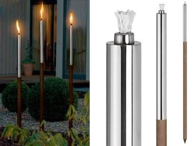 Blomus Palos Garden Torch Steel & Wood