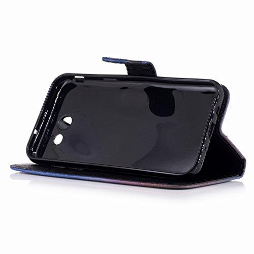 Yiizy Samsung Galaxy J3 Prime Custodia Cover, Raffreddare Murale Design Sottile Flip Portafoglio PU Pelle Cuoio Copertura Shell Case Slot Schede Cavalletto Stile Libro Bumper Protettivo Borsa