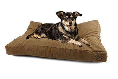 4 Pets DIY Dog Cushion Cover Pet Mat Case Do It Yourself Khaki Color Suede XL by 4pets