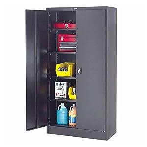Amazon.com: Unassembled Steel Storage Cabinet Recessed Handle, 36 ...