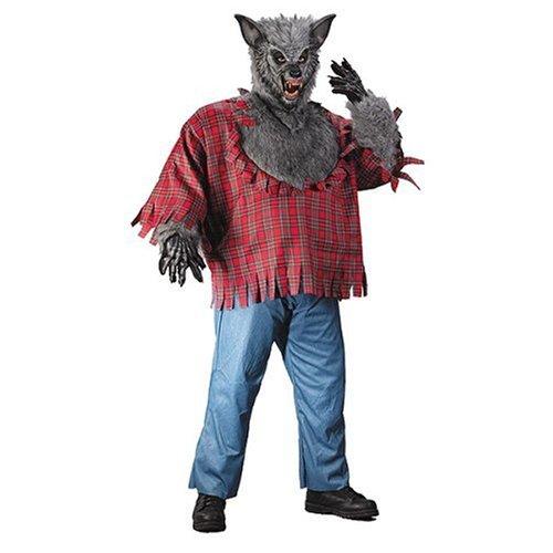Silver Grey Werewolf Plus Size Costume (Adult Silver Werewolf Costume)