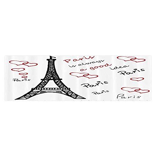 Background Fish Tank Sticker Eiffel Tower Paris