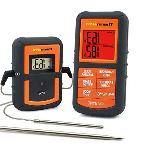 Mikash Wireless Remote Digital Cooking Meat Thermometer Grilling Smoker BBQ Dual Probe | Model GRLLST - 290
