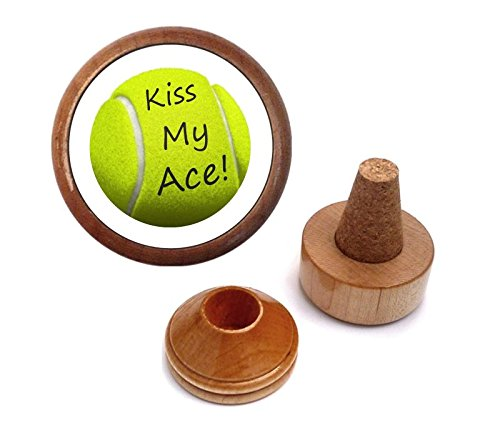 Gift for tennis lover player | Wine bottle stopper set ()
