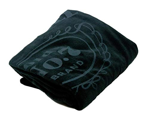 (Jack Daniel's Label Plush Blanket - Official Product - with Vinyl Carrying Case)