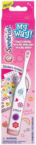 Spinbrush Pour Batterie enfants Propulsé Brosse à dents, My Way, filles