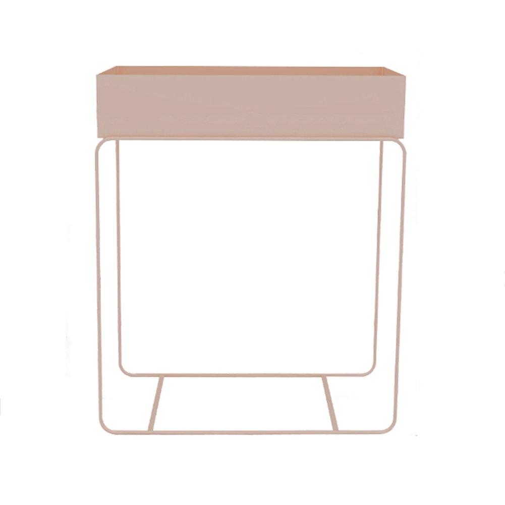 フラワースタンド 北欧アイアンアートフラワースタンド屋内リビングルームバルコニーフロアスタンディンググリーンダニ植物フラワーラックフラワーポット植物スタンド 園芸ラック (色 : ピンク ぴんく) B07DB87KP2 ピンク ぴんく ピンク ぴんく