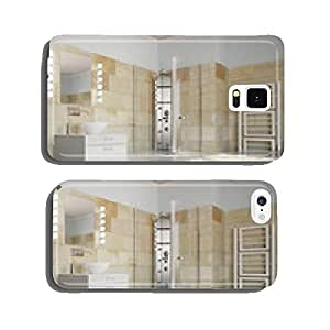Water damage in bathroom after flood cell phone cover case Samsung S6
