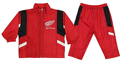 Detroit Red Wings NHL Baby Boys Infant Windsuit Jacket & Pants Set, Red (12 ()