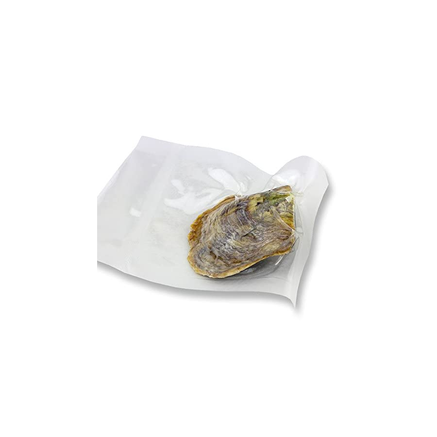 Wish Cultured Pearl Oyster Oval Shape in Vacuum Package 6 7mm 100pcs (White, Pink, Purple, Dyed Black)