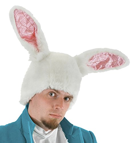 For Men Costume Winter Wonderland (UHC Disney Alice In Wonderland White Rabbit Theme Party Hat Costume)