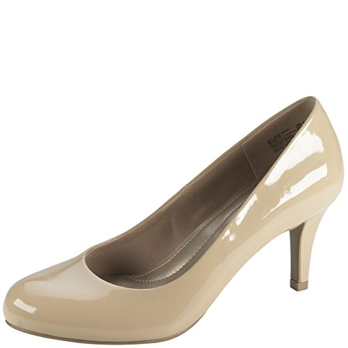 Predictions Comfort Plus by Women's Karmen Pump 7 Nude Patent by Predictions