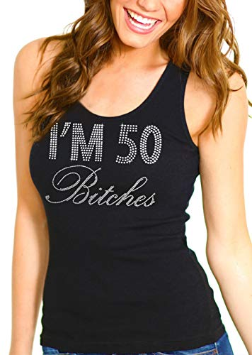 50th Birthday Black Shirt - I'm 50 Bitches Relaxed Fit Tank Top - 50th Birthday Party Supplies - Small - Black RxTank(50Btchs RS) Blk/Sml