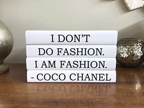 Amazon.com: Chanel Decorative Quote Book Set, Fashion ...