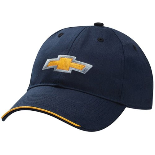 Chevy Bowtie Navy Blue Cotton Twill Hat