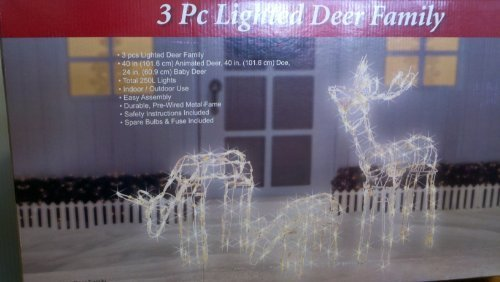 Outdoor Lighted Deer Family - 8