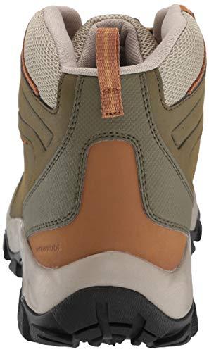 Columbia Men's Newton Ridge Plus II Waterproof Ankle Boot Silver sage, Dark Banana 7 Regular US by Columbia (Image #2)