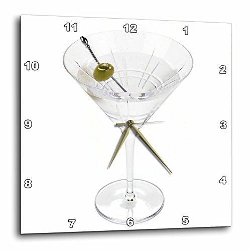 3dRose dpp_4549_3 Martini-Wall Clock, 15 by 15-Inch