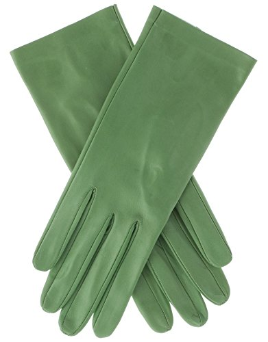 Lundorf Linea Women's Green Leather Gloves Cashmere Lined 7.5 Pastel Green