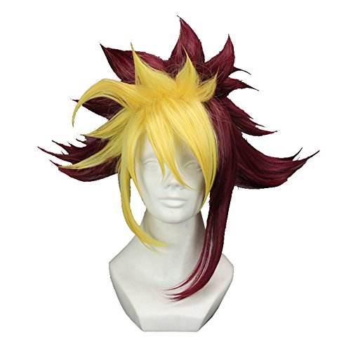 Costumes Gi Halloween (Yugioh Zexal Quattro Wig Short Prestyled Anime Costume Party)