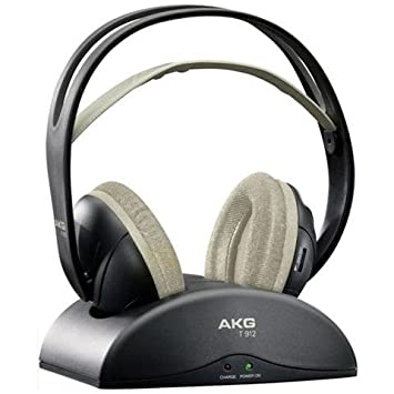 AKG auriculares dinámicos inalámbrico con banda autoajustable K 912 para TV inalámbrico color negro hexachrome.: Amazon.es: Electrónica