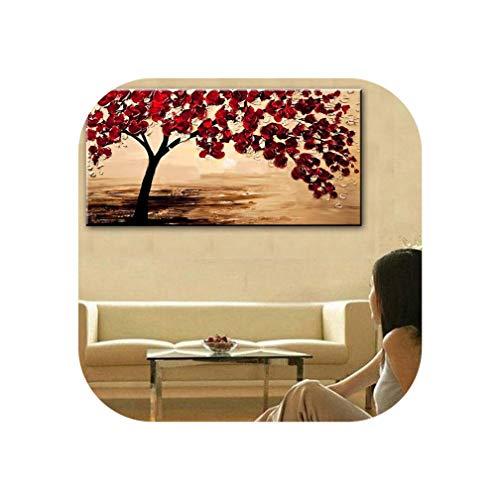 - New Handmade Modern Canvas On Oil Painting Palette Knife Tree 3D Flowers Paintings Home Living Room Decor Wall Art 168032,90Cmx180Cm,168029