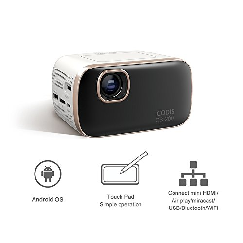 Icodis cb 200 pico mobile projector 30 000 hour bulb life for Lumen pocket projector