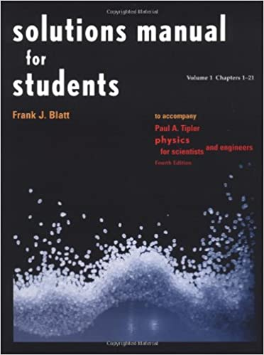Amazon solutions manual for students vol 1 chapters 1 21 to solutions manual for students vol 1 chapters 1 21 to accompany physics for scientists and engineers 4e 4th edition fandeluxe Gallery