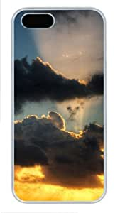 Black clouds indestructible iphone 5 cases PC White for Apple iPhone 5/5S