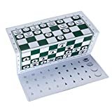 WE Games Supersize Magnetic Checkbook Chess Set
