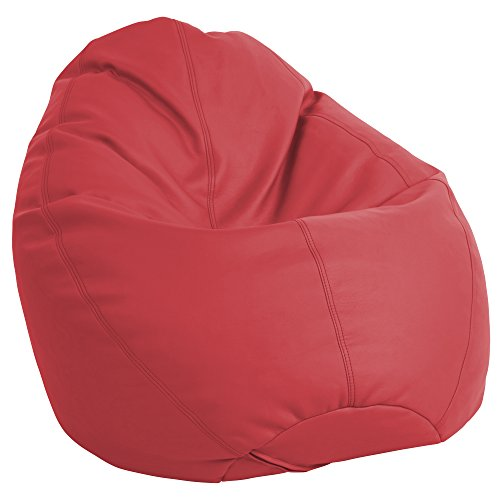 ECR4Kids Dew Drop Bean Bag Chair, Red ()
