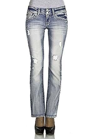WallFlower Juniors Luscious Curvy Bootcut Jeans in Summer Size: 13