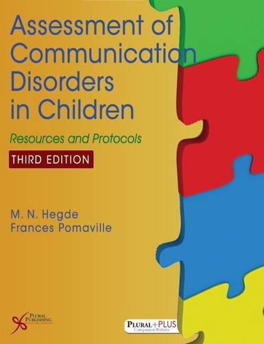 1597567841 - Assessment of Communication Disorders in Children: Resources and Protocols, Third Edition
