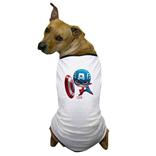 CafePress Chibi Captain America Stylized Dog T Shirt Dog T-Shirt, Pet Clothing, Funny Dog Costume -