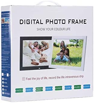 1028/×800 Resolution 12 Inches Photo Frames Digital Commemoration,White Human Body Induction Advertising Machine Great Home Decoration