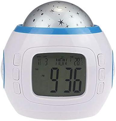 TwoCC Despertador, Música Led Star Sky Proyección Reloj ...