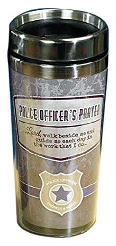 Police Officer's Prayer Travel Tumbler by Abbey Press